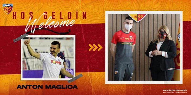 Son dakika... Anton Maglica resmen Kayserispor'da