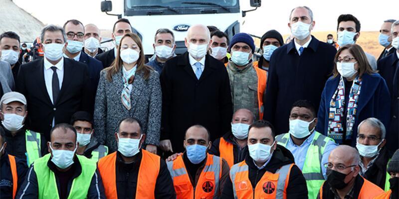Bakanlar Karaismailoğlu ve Gül, Gaziantep'te inceleme yaptı