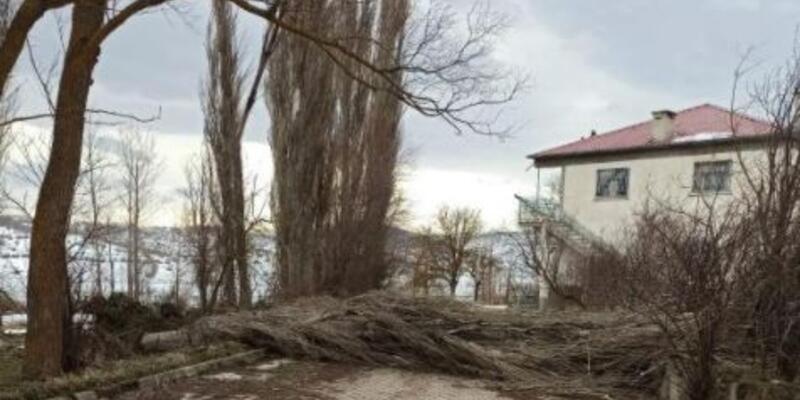 Tokat'ta şiddetli rüzgar; ağaçlar devrildi, elektrik kabloları koptu