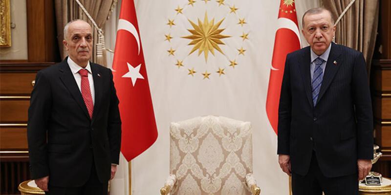 Cumhurbaşkanı Erdoğan, Türk-İş Genel Başkanı Atalay'ı kabul etti
