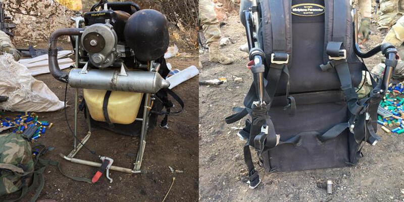 150 kilo bomba taşıyan paramotorlu terörist havada vuruldu