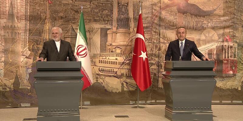 """Çavuşoğlu ve Zarif'ten önemli açıklamalar: """"Sayın Erdoğan'ı İran'a bekliyoruz"""""""