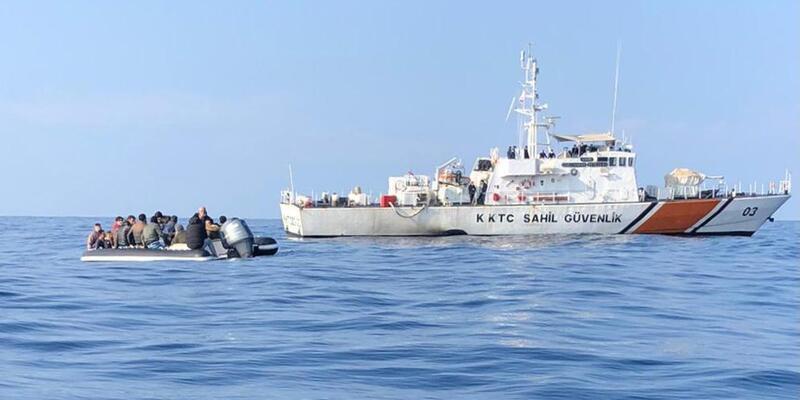 KKTC Sahil Güvenlik ekipleri göçmen kaçakçılarına göz açtırmadı