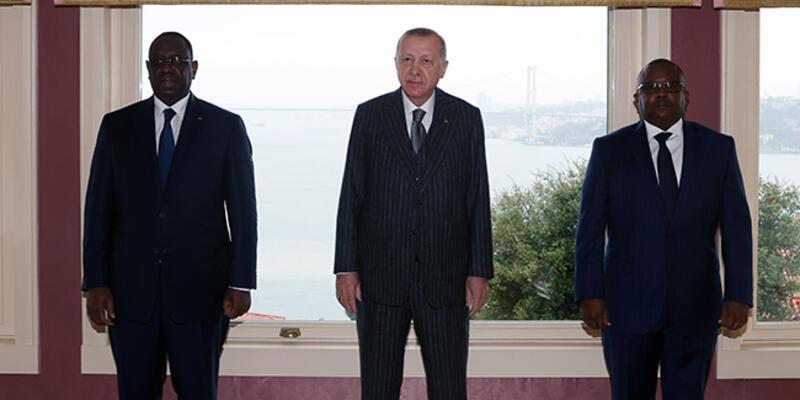 Cumhurbaşkanı Erdoğan, Embalo ve Sall ile görüştü