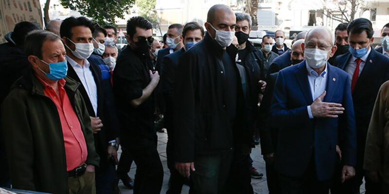 Kılıçdaroğlu, İzmir'de selden zarar gören esnafı ziyaret etti
