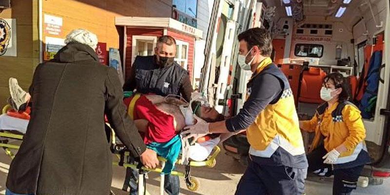 İnşattın çatı katından düşen işçi ağır yaralandı