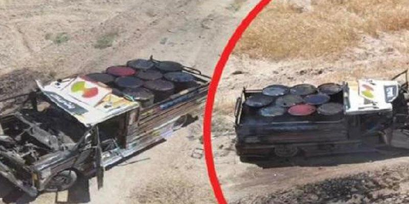 Tel Abyad'da bomba yüklü 2 kamyonet ele geçirildi