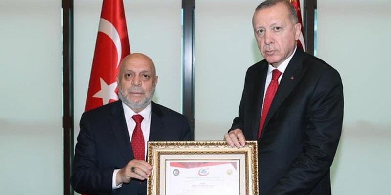 Cumhurbaşkanı Erdoğan, Hak-İş Genel Başkanı Arslan'ı kabul etti
