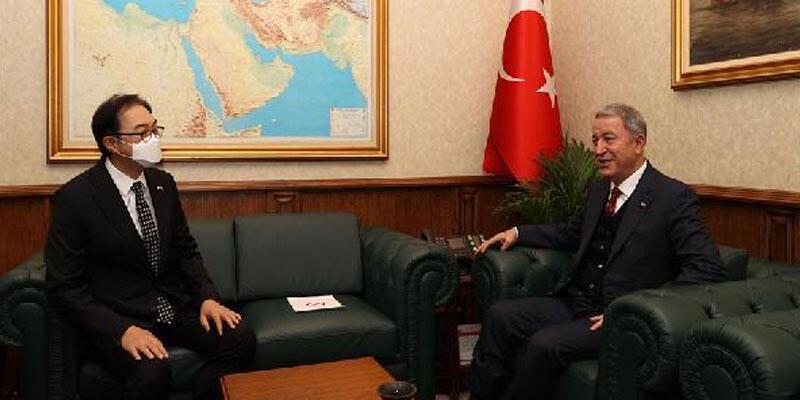 Bakan Akar, Kore Cumhuriyeti Ankara Büyükelçisi'ni kabul etti
