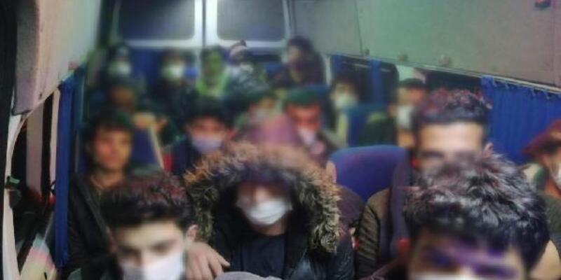 Eskişehir'de 63 kaçak göçmen yakalandı