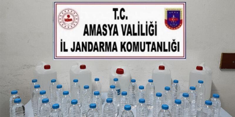 Amasya'da 45 litre sahte içki ele geçirildi