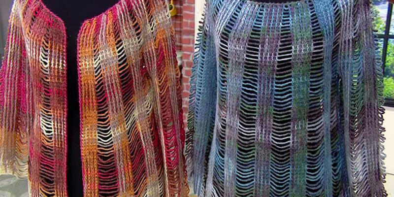 Çok renkli tığ işi bluz yapımı