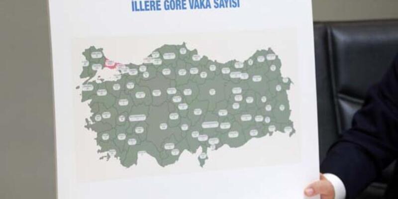 8-14 Şubat haftasının illere göre koronavirüs vaka sayısı haritası: En çok vakaların görüldüğü iller hangileri?