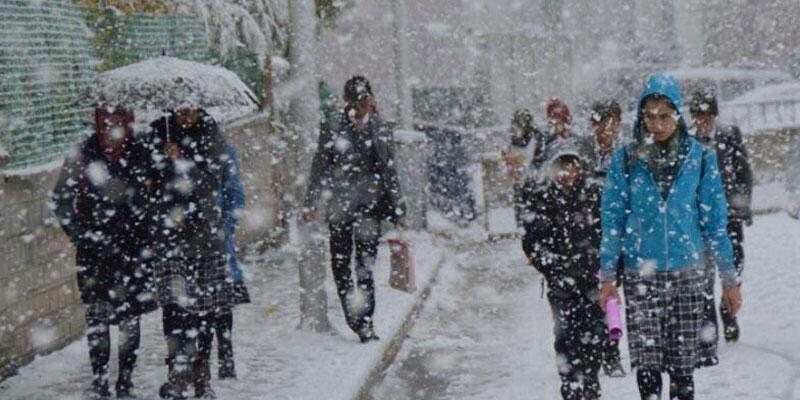 Son dakika haberi: 14 ilde eğitime kar engeli