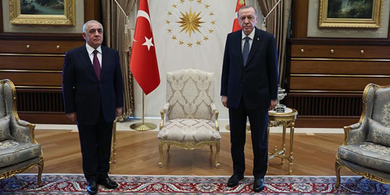 CumhurbaşkanıErdoğan, Azerbaycan Başbakanı Asadov'u kabul etti