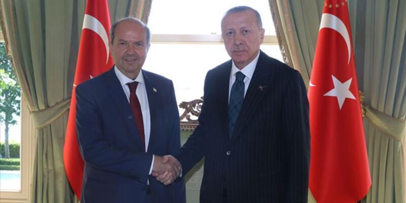 Son dakika haberi: Cumhurbaşkanı Erdoğan, KKTC Cumhurbaşkanı Tatar'la görüştü