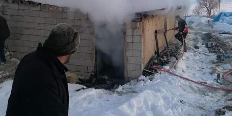 Ağılda çıkan yangında 120 küçükbaş öldü