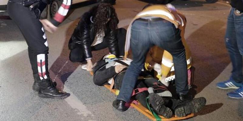 Beyoğlu'nda taksinin çarptığı yaya ağır yaralandı