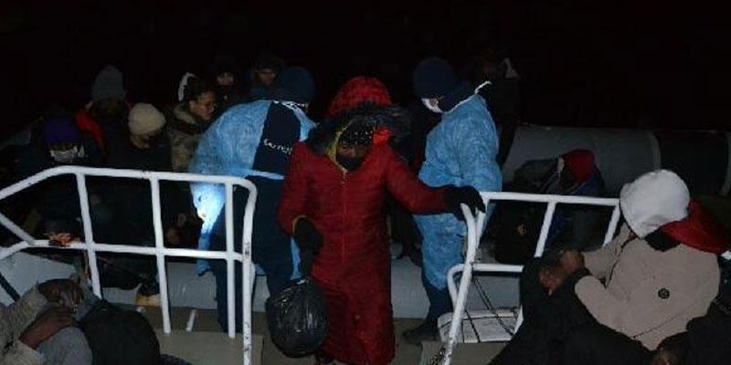 İzmir'de 53 kaçak göçmen kurtarıldı