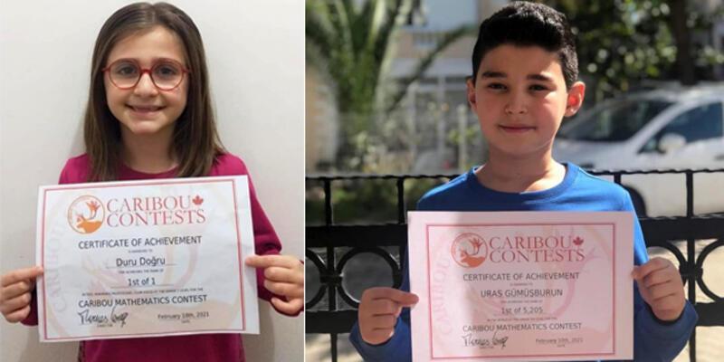 """Marmarisli iki öğrenci """"Uluslararası Caribou Matematik Yarışması""""nda dünya birincisi oldu"""