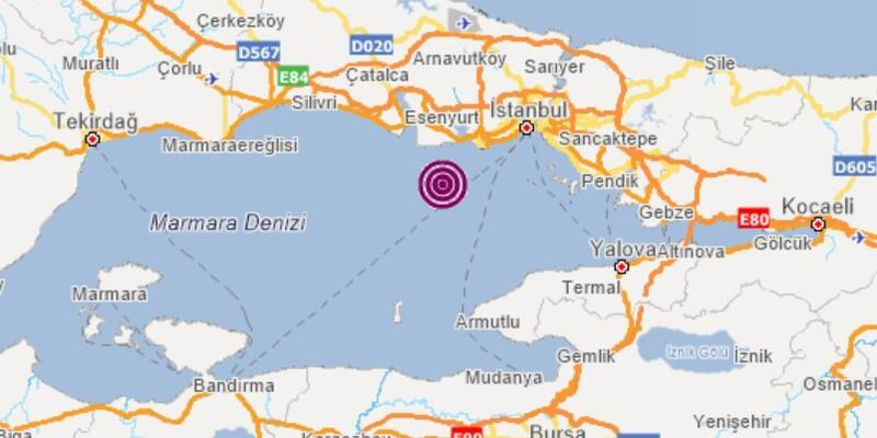 Son dakika... Marmara Denizi'nde 2,7 büyüklüğünde deprem