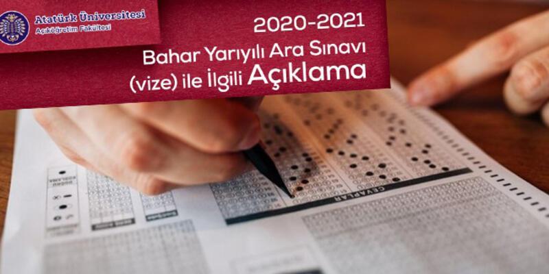 ATA AÖF sınav takvimi 2021… ATA AÖF vize sınavları ne zaman yapılacak, sınavlar online mı olacak?