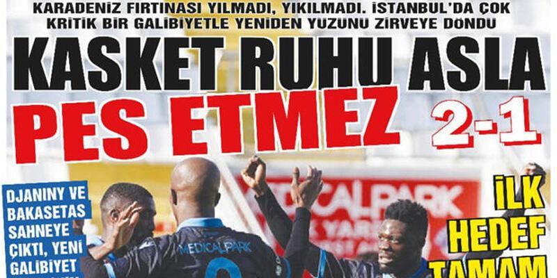 Son dakika... Trabzon'da yerel basından takıma övgü
