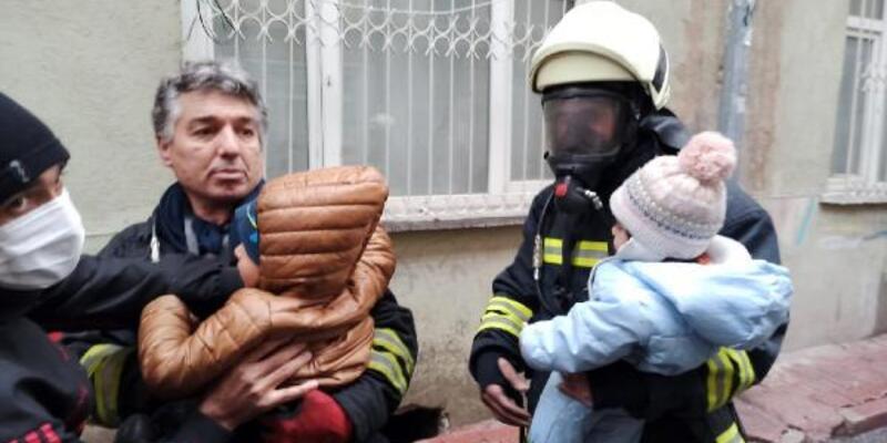 Konya'da ev yangını; 8'i çocuk 10 kişi dumandan etkilendi