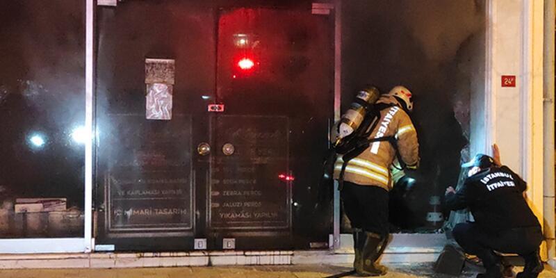 Maltepe'de iş yerinde yangın: 1 ölü