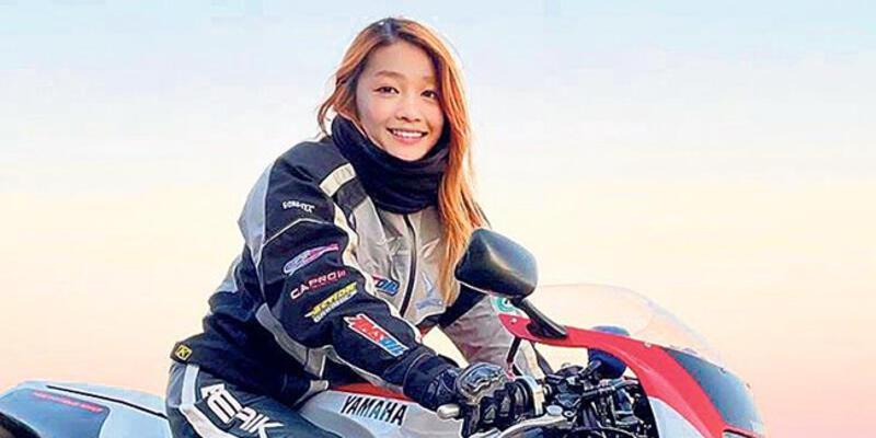Fenomen 'kadın motorcu' 50 yaşında bir erkek çıktı!