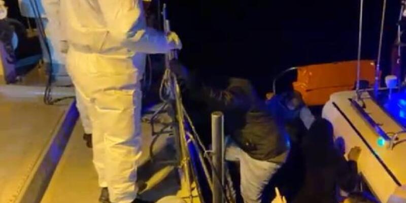 Pınar Adası'na sığınan 36 kaçak göçmen kurtarıldı