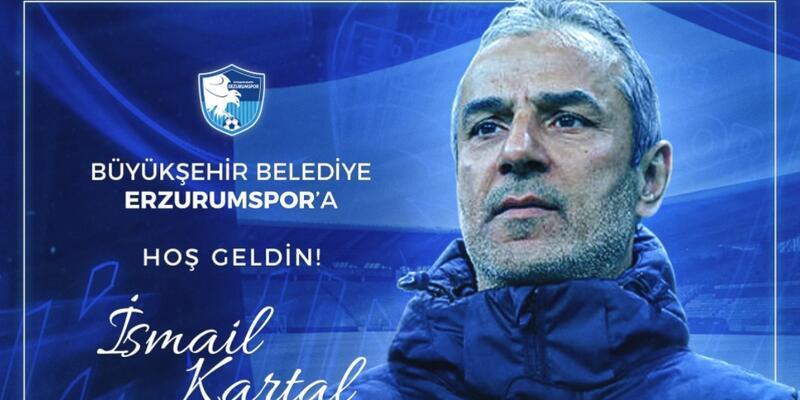 Erzurumspor İsmail Kartal'ı duyurdu