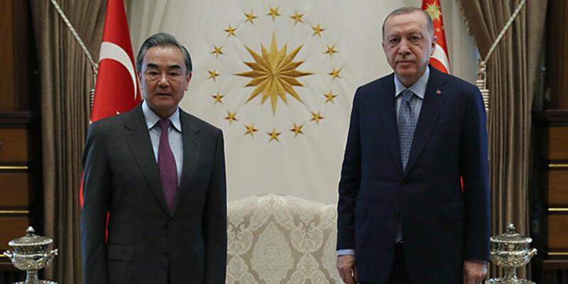 Cumhurbaşkanı Erdoğan, Çinli Bakan Yi'yi kabul etti