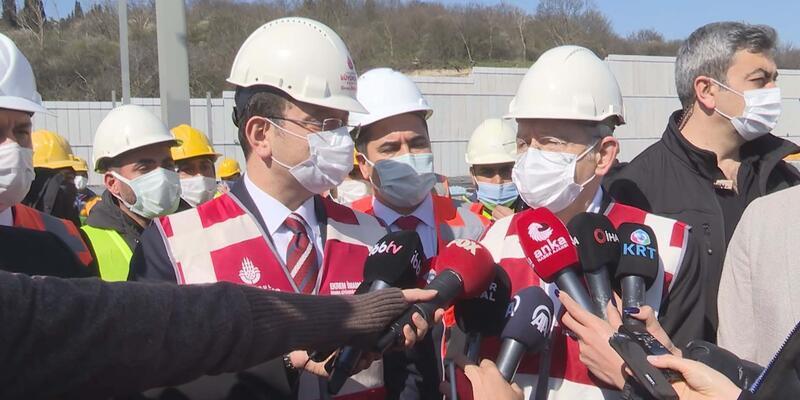 Kılıçdaroğlu Halk Ekmek fabrikası inşaatında inceleme yaptı, soruları yanıtladı