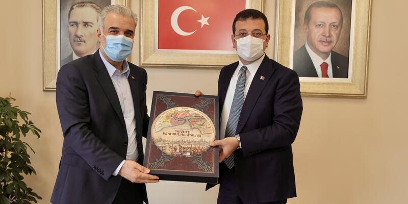 İBB Başkanı İmamoğlu'ndan AK Parti İstanbul İl Başkanı Kabaktepe'ye ziyaret