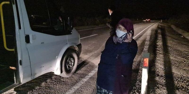 Karabük'te kaçırıldığını zanneden COVID-19'lu kadını polis oğlu ikna etti