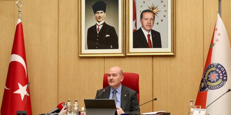 İçişleri Bakanı Soylu, 81 ilin emniyet müdürleriyle toplantı yaptı