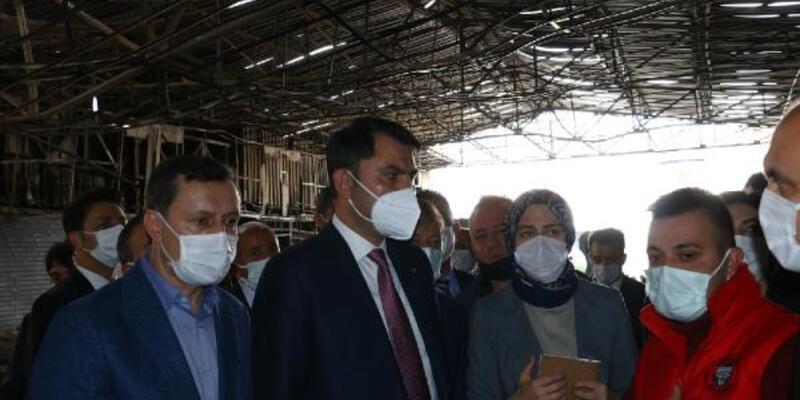 Bakan Kurum: Kızılcahamam'da yanan 15 iş yerini yeniden inşa edeceğiz