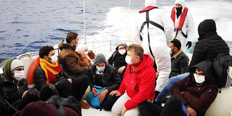 Marmaris'te 15 kaçak göçmen kurtarıldı