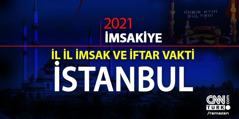 İSTANBUL SAHUR VAKTİ | 16 Nisan 2021 İstanbul sahur saati... Sabah ezanı iftar saat kaçta? İstanbul imsakiye 2021