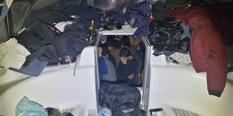 Datça'da 114 kaçak göçmen ve 2 organizatör yakalandı
