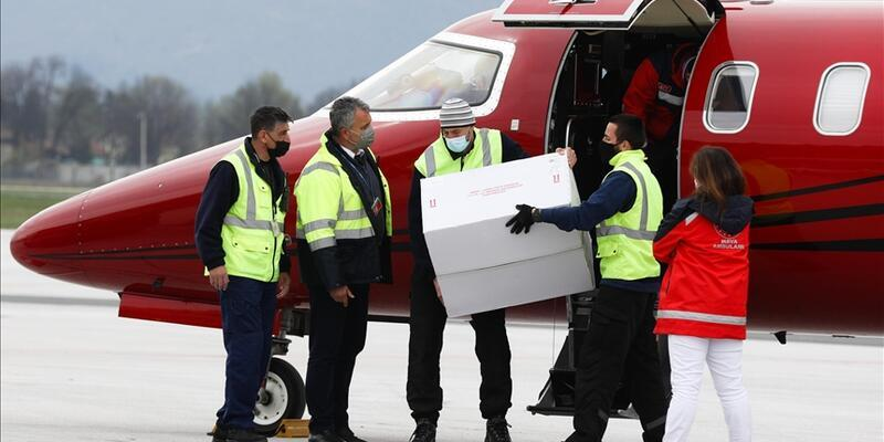 Türkiye'nin hibe ettiği 10 bin doz aşı Bosna Hersek'e ulaştı