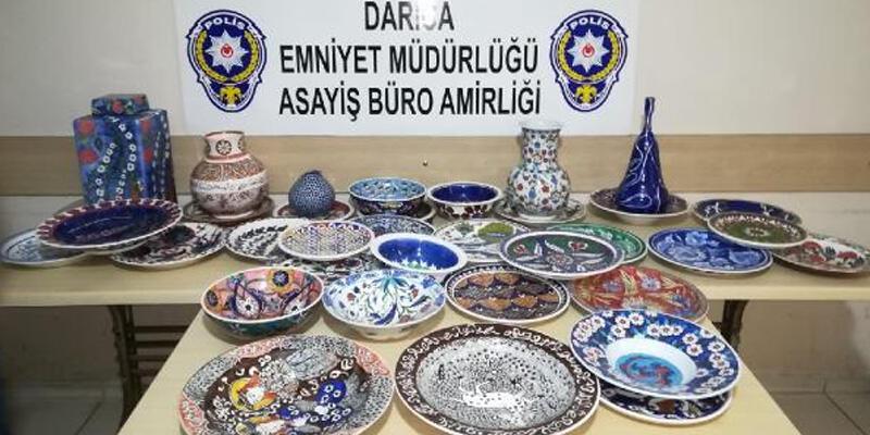 Sanatçının atölyesinden 650 bin TL'lik çinileri çalan hırsız yakalandı