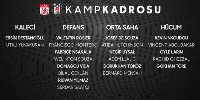 Son dakika... Beşiktaş'ın Sivasspor maçı kadrosu belli oldu