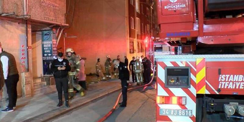 Gecekonduda çıkan yangın yan binaya sıçradı