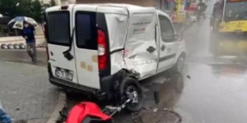 Maltepe'de feci motosiklet kazası