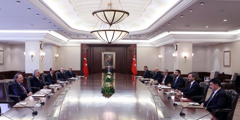 Erdoğan, Cumhurbaşkanlığı Politika Kurulu başkanvekilleriyle görüştü