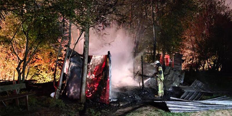 Bursa'daki barakalarda çıkan yangın söndürüldü