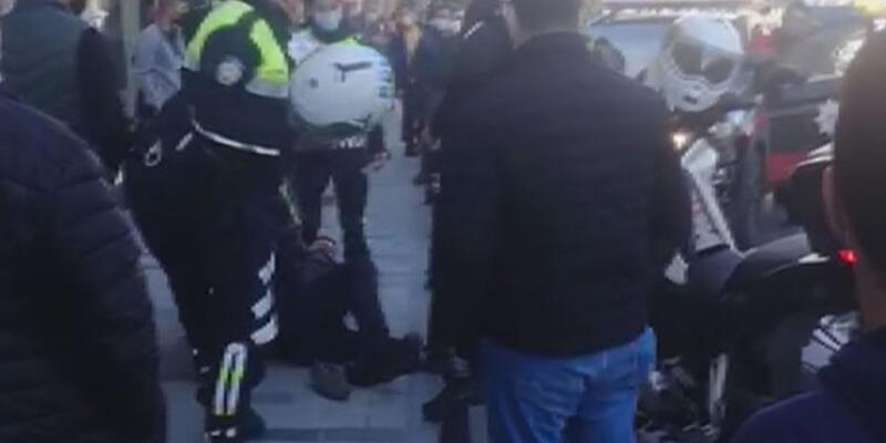 Beyoğlu'nda banka şubesinde bıçaklı saldırgan paniği