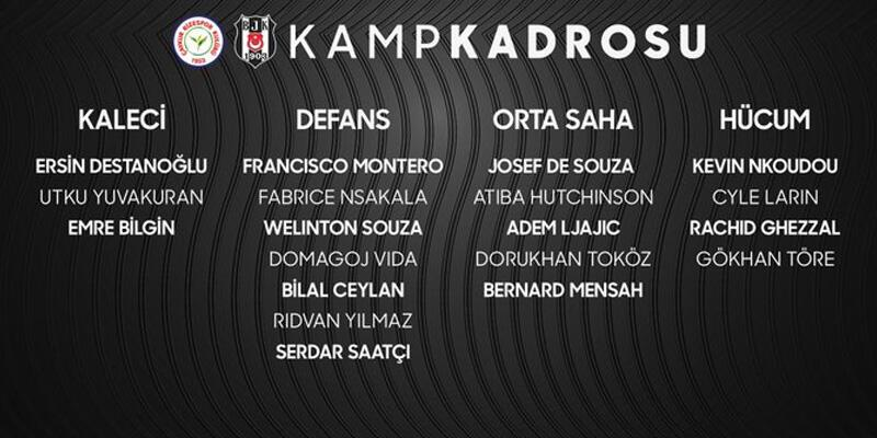 Son dakika... Beşiktaş'ta Atiba ve Larin kadroya alındı!